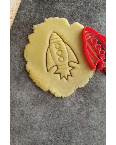 Biscuit sablé en forme de fusée