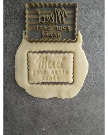 Biscuit sablé petit beurre pour remerciements de fin d'année
