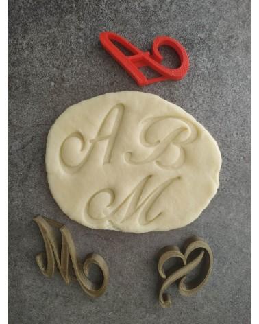 Utilisation d'un monogramme sur une pâte sablée