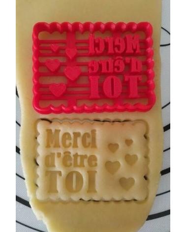 """Biscuit sablé petit beurre """"Merci d'être toi """""""