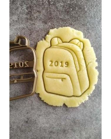 Biscuit sablé en forme de cartable scolaire