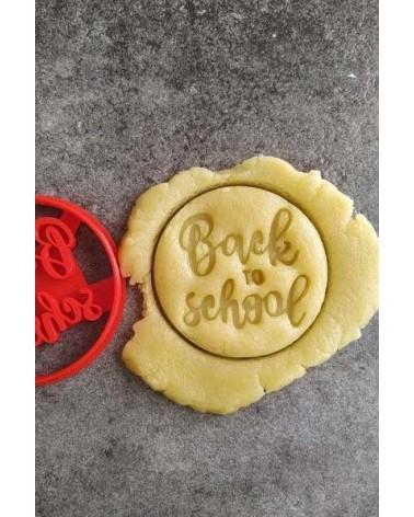 Biscuit sablé rond pour l'école