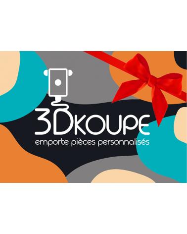 Carte Cadeau 3Dkoupe