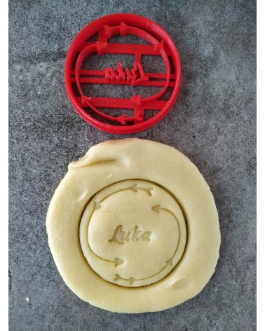Biscuit sablé cannelé avec des flèches bohème personnalisé avec un prénom